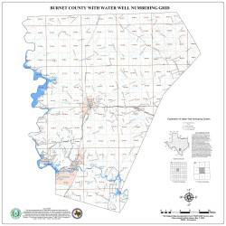 Water Well Grid - Burnet County